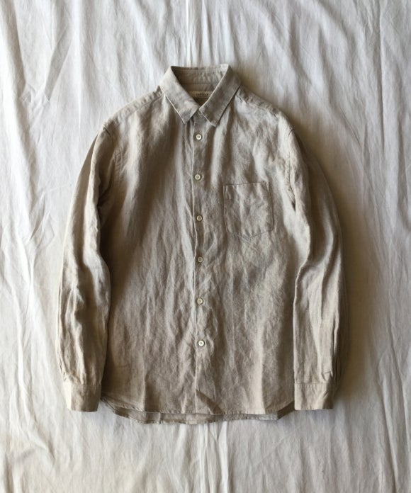 Brushed LInen Regular Collar Shirt