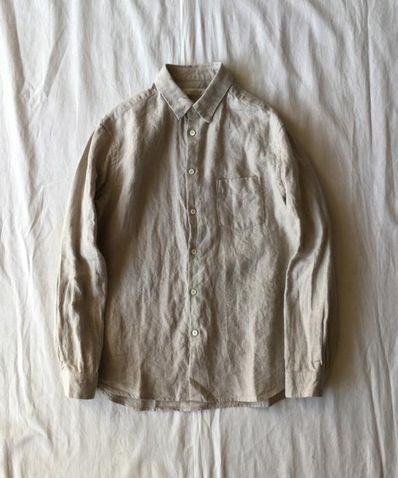 Brushed LInen Regular Collar Shirt
