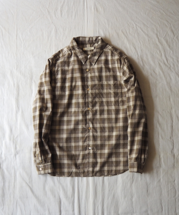 Cotton Check Military Shirt