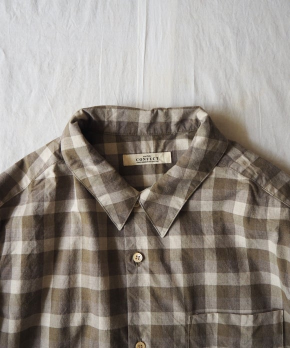 Cotton Check Military Shirt