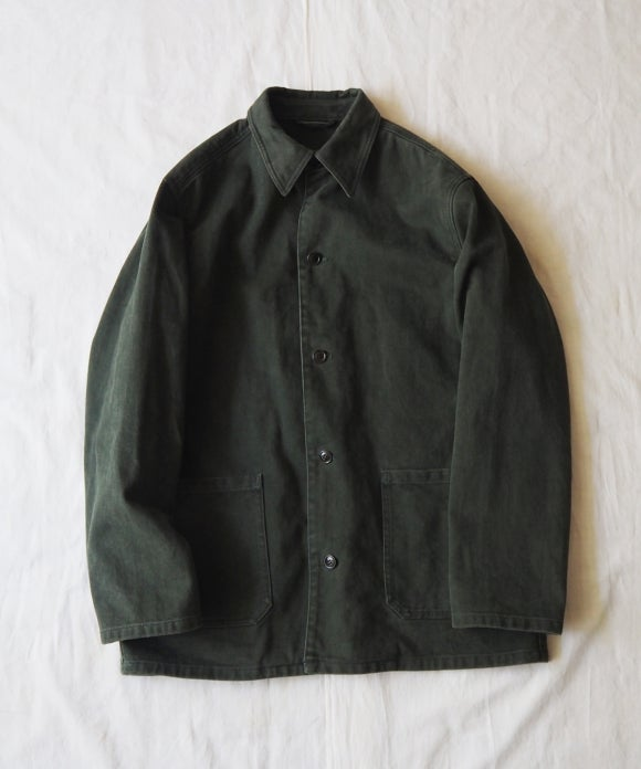 Brushed Cotton Twill Coverall Jacket