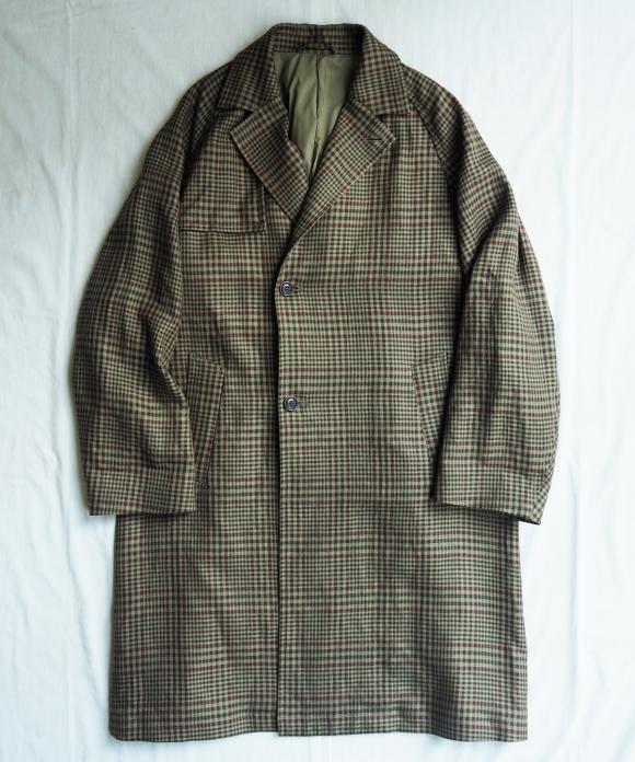 Linen Check Ulster Coat
