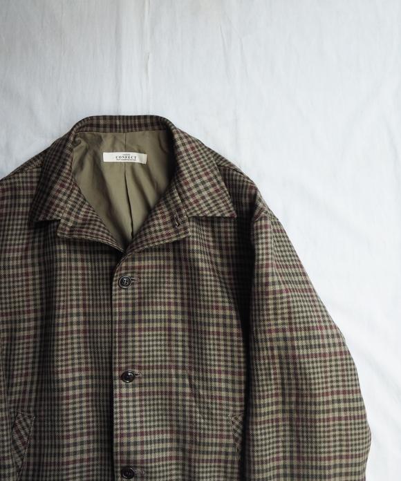 Linen Check Short Blouson