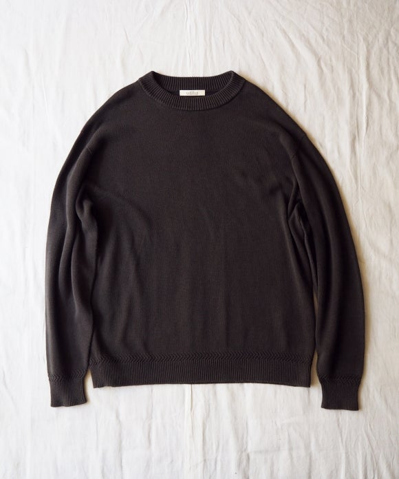 Over Dyed Cotton Crew Neck Knit