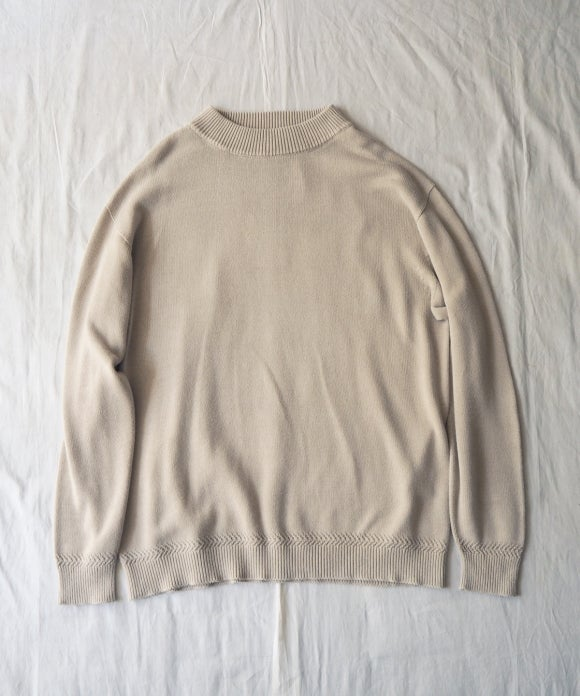 Over Dyed Cotton High Neck Knit