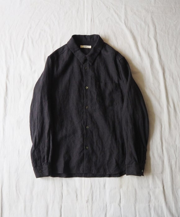 Brushed Linen Military Shirt
