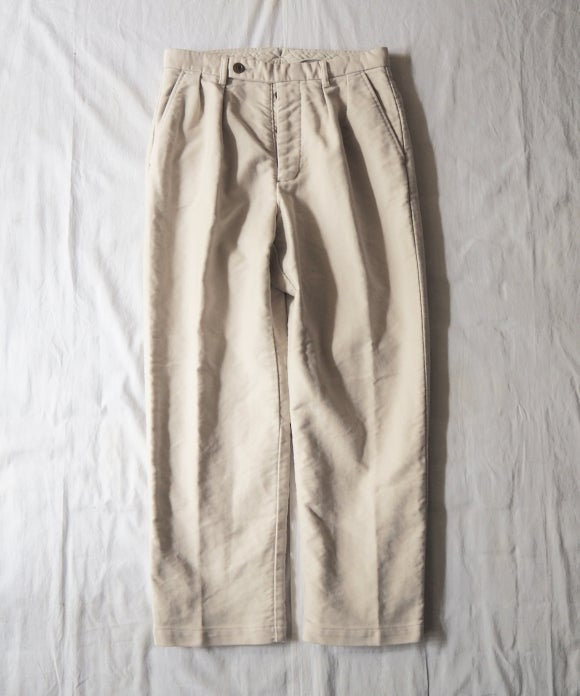 Moleskin Wide Tapered Trousers