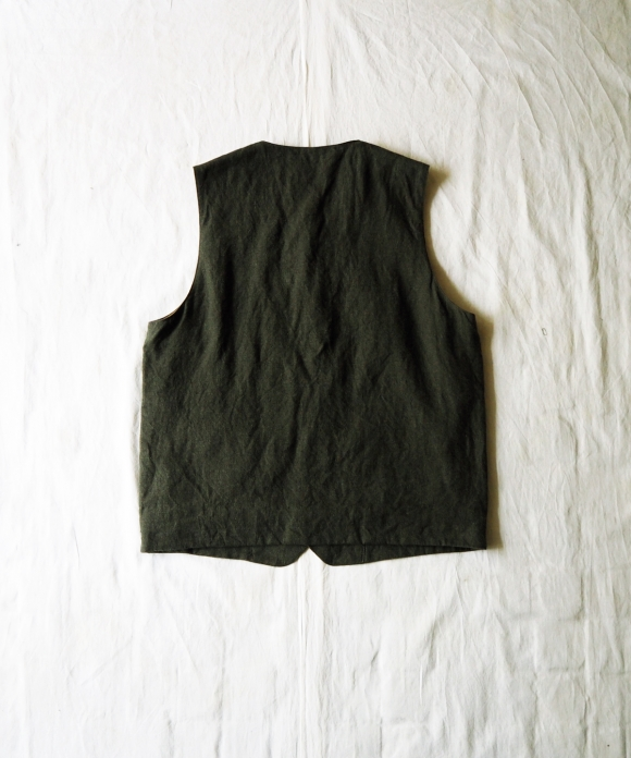 Brushed Linen Crew Neck Vest