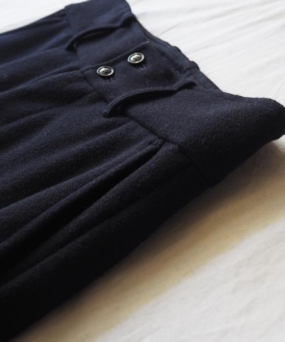 Wool Pile Melton Trousers