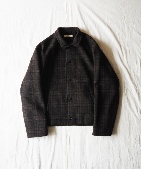Wool Check Short Blouson