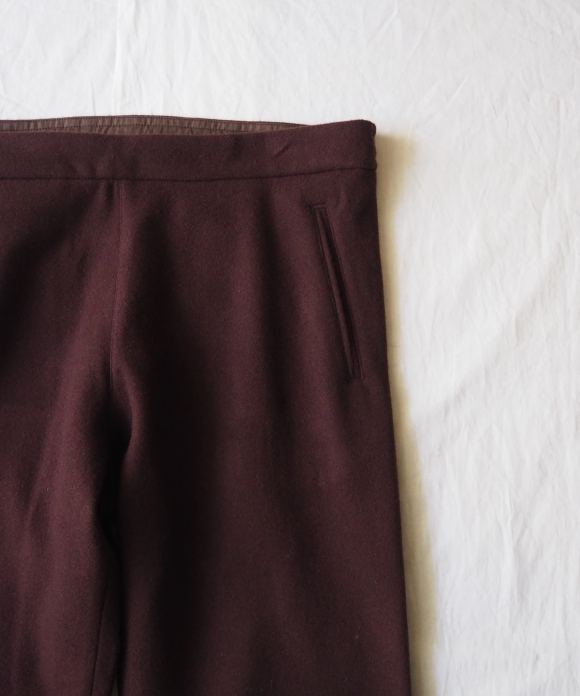 Wool Pile Easy Pants
