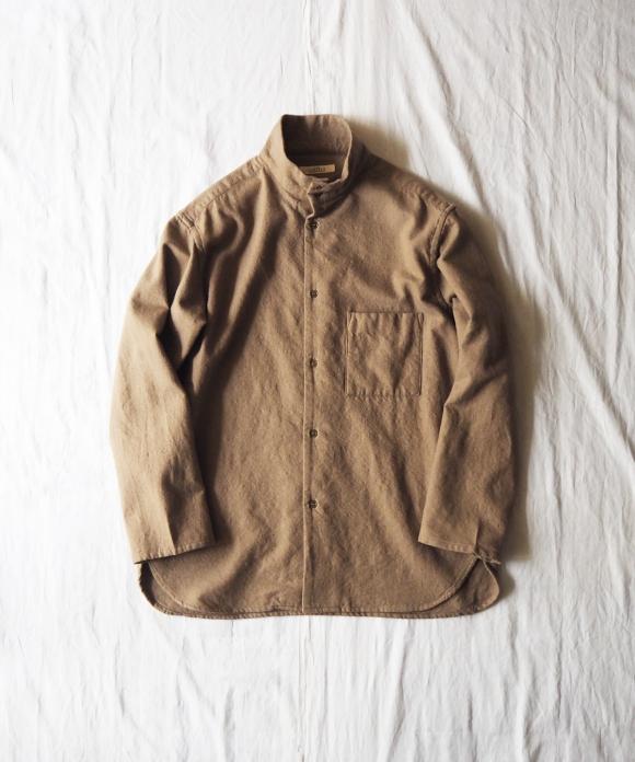 Cotton Wool Viyella High Neck Shirt