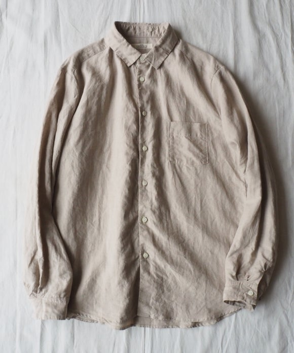 High Count Linen Regular Collar Shirt