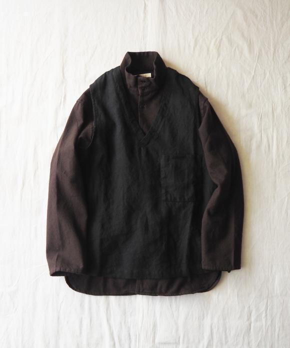 Brushed Linen Pullover Vest