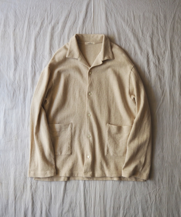 Moss Stitch Open Collar Shirt