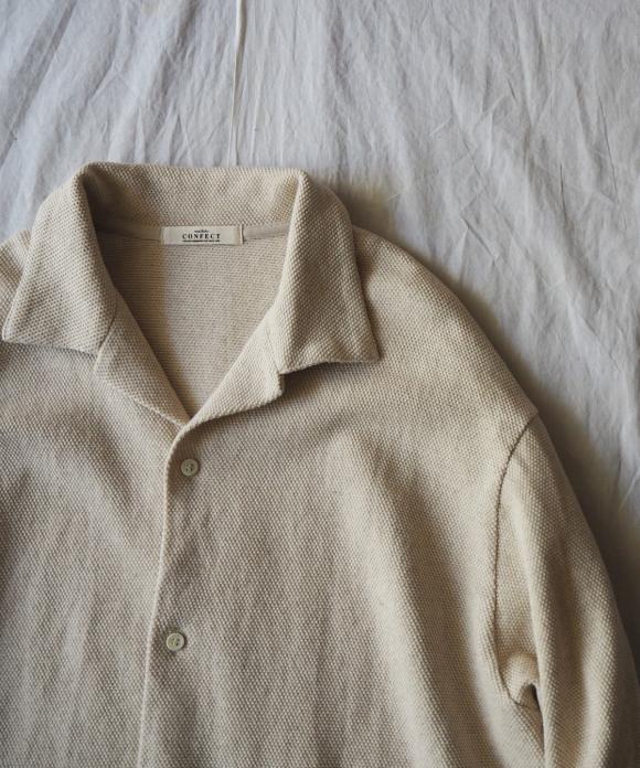 鹿の子オープンカラーシャツ