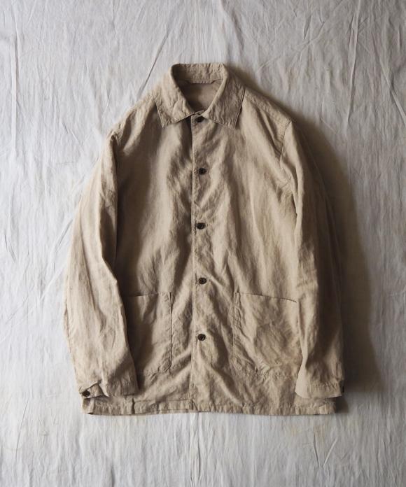High Count Linen Utility Jacket