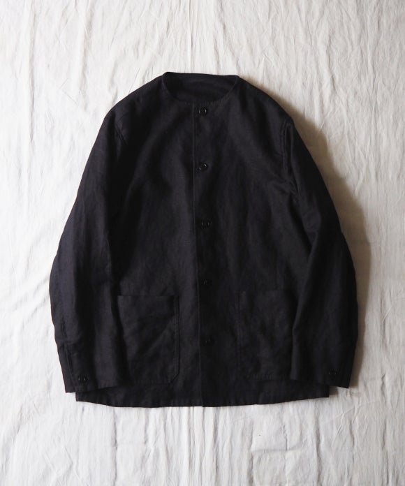 Piece Dyed Linen Coverall Jacket
