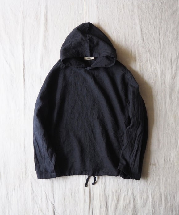 Sulfur Dyed Linen Hooded Parka