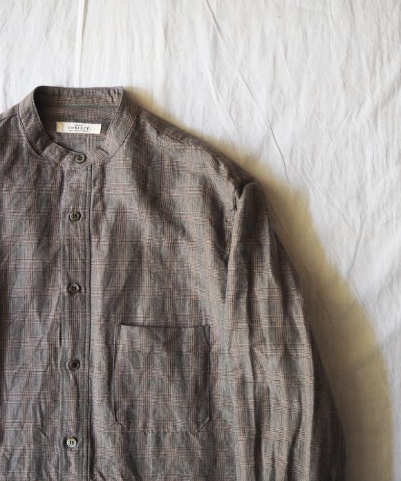 ラミーコットングレンチェックプルオーバーシャツ