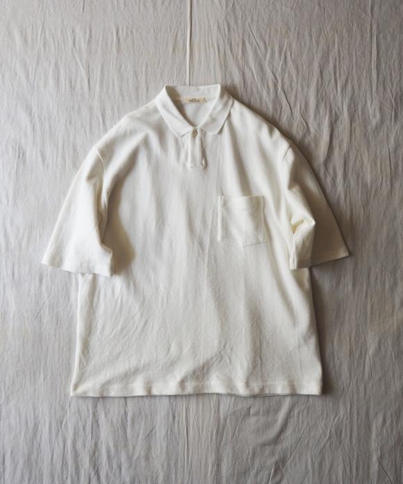 鹿の子半袖ビッグポロシャツ