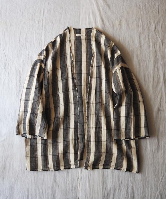 ワイドチェック羽織り
