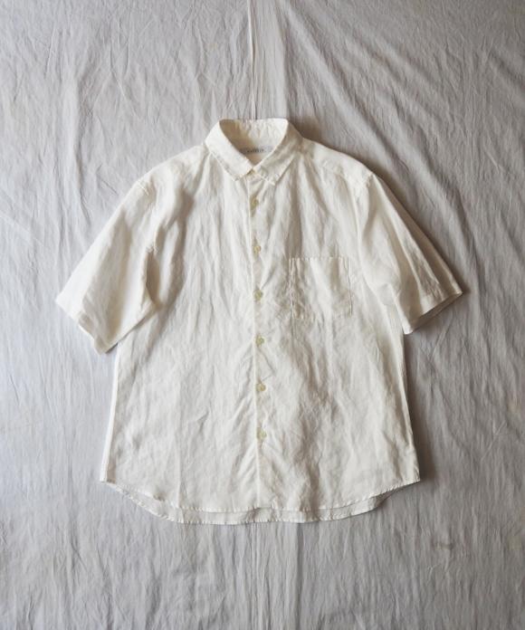 ハイカウントリネン半袖シャツ