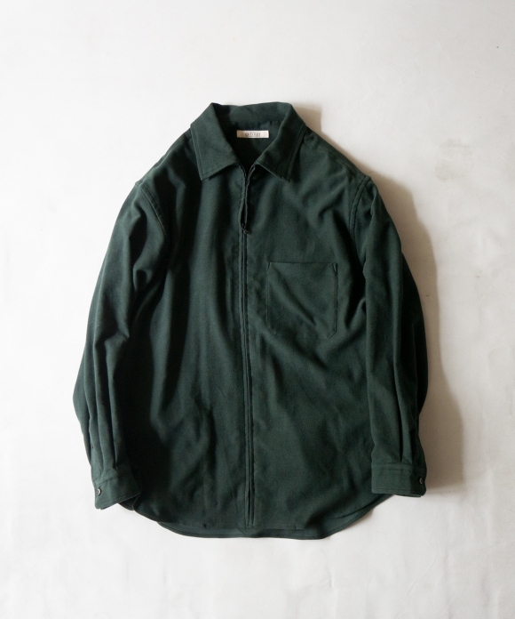 コットンカシミヤジップシャツ