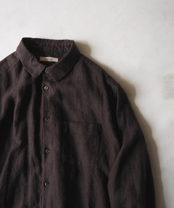 起毛リネンレギュラーカラーシャツ