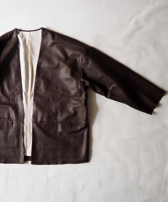 シープレザー羽織りジャケット