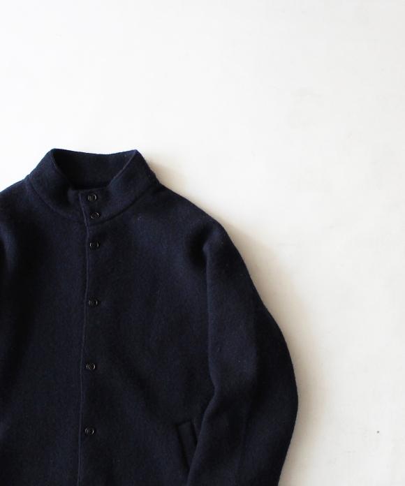 縮絨ウールハイネックジャケット
