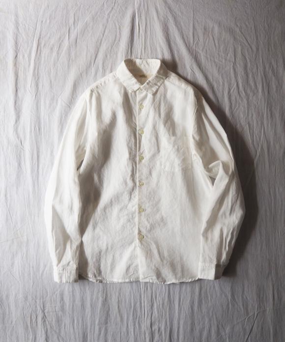 High Count Linen Regular Collar Shirt