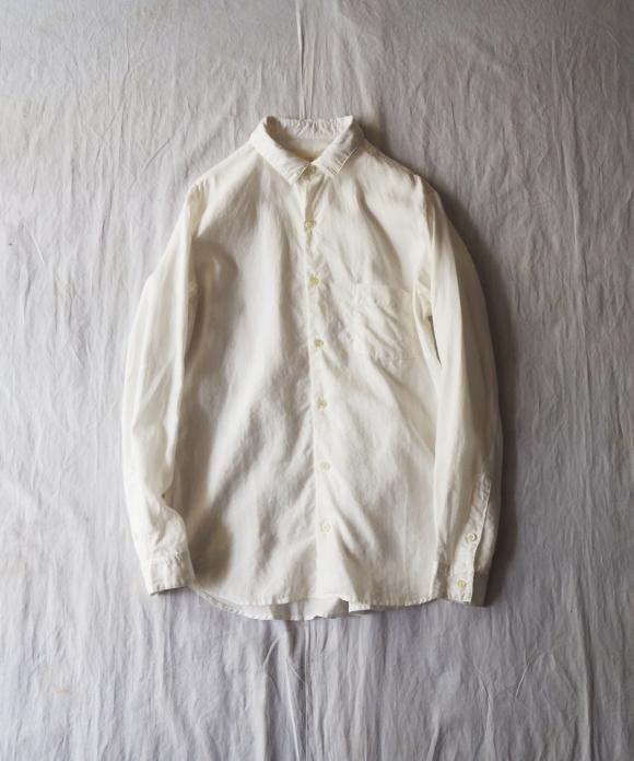ハイカウントリネンレギュラーカラーシャツ(ドレスフィット)