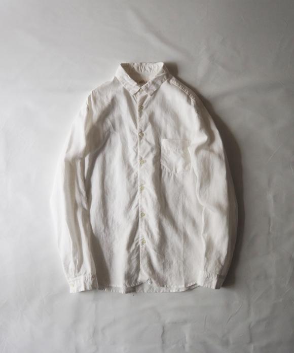 ハイカウントリネンレギュラーカラーシャツ