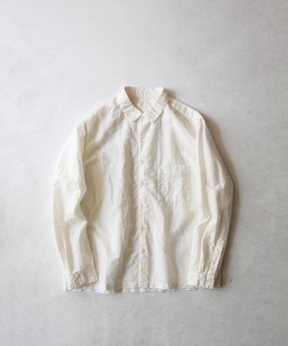 コットンリネンシルクボックスシャツ