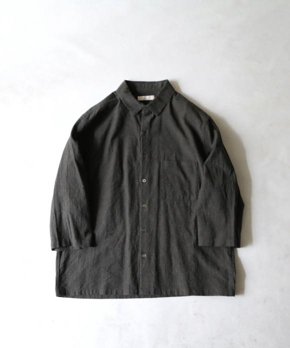 コットンリネンラミー7分袖シャツ