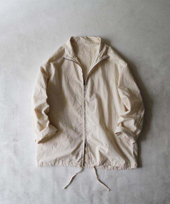 コットンリネンウェザージップシャツ