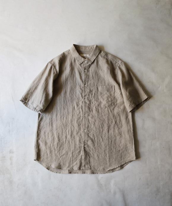 リネンハーフスリーブシャツ