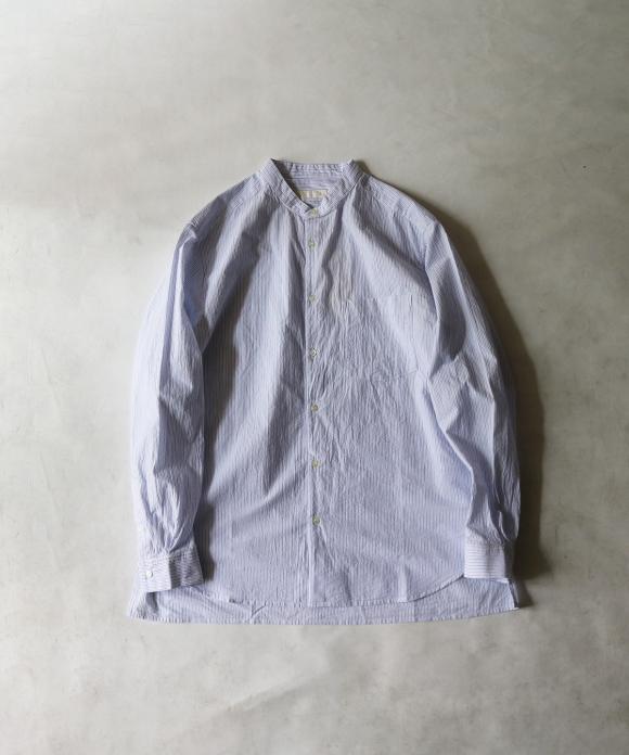 ウェーブボイルバンドカラーシャツ