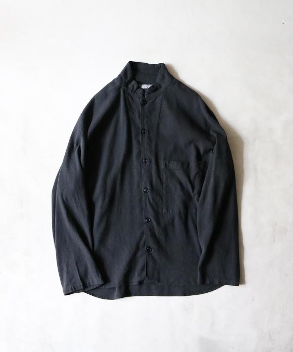 リネンシルクネップ スタンドカラーシャツジャケット