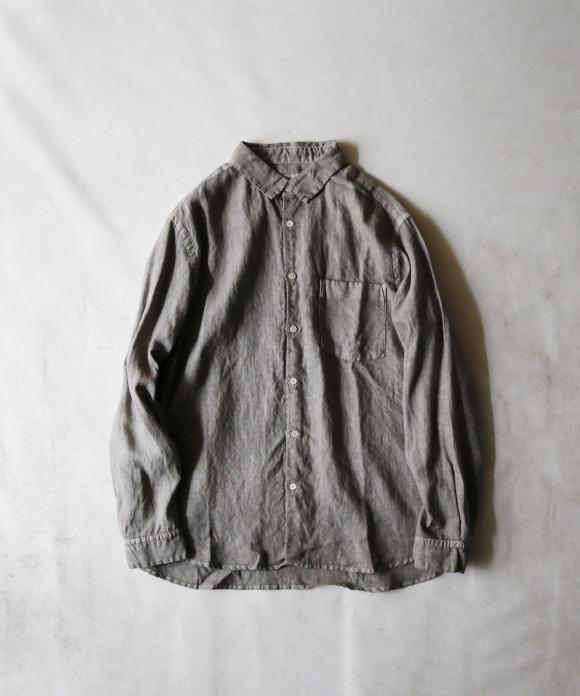 ピグメントダイリネンレギュラーカラーシャツ