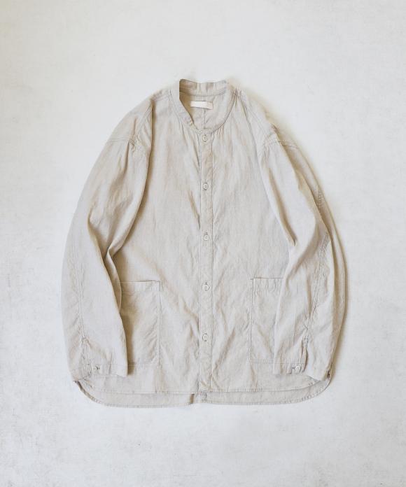 【UpcycleLino】カバーシャツ(生成り) ハンガー付き