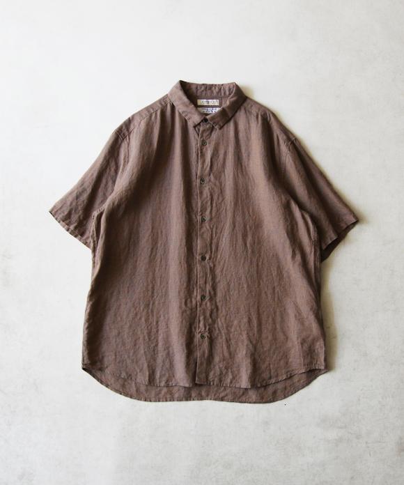 LINASシャンブレーワイド半袖シャツ