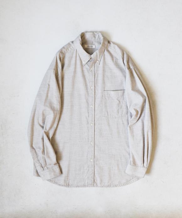 コットン/ヤク ワイドフィット BDシャツ