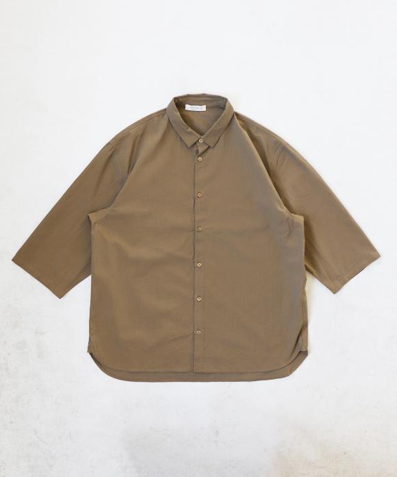 ボイルギャバ カフスレス  シャツ