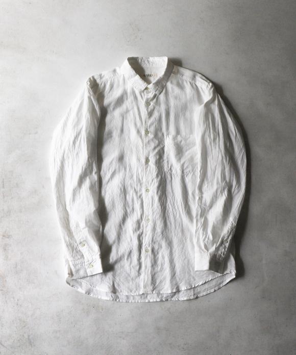 ハイカウントリネン レギュラーカラー ドレスシャツ
