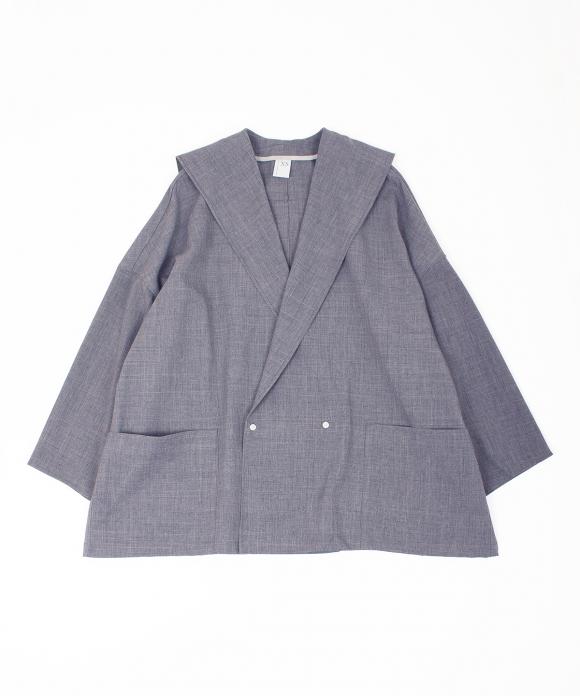 【NO CONTROL AIR】平織りポリエステルセーラーシャツ