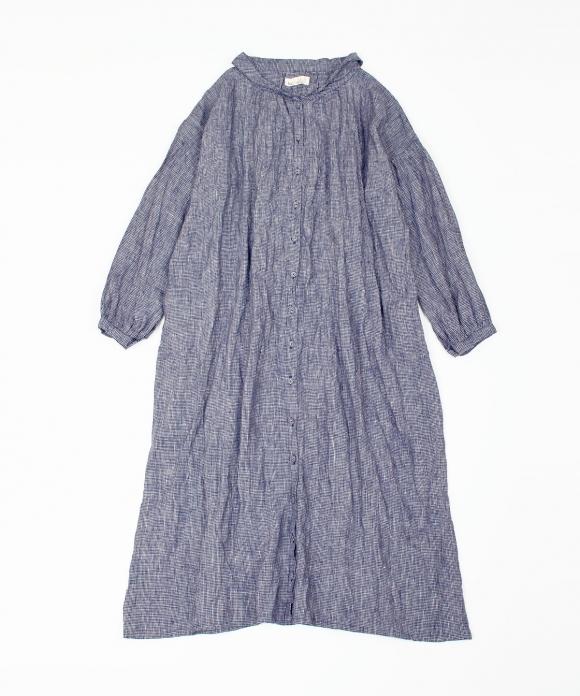 【fog with nest Robe】衿付きワンピース