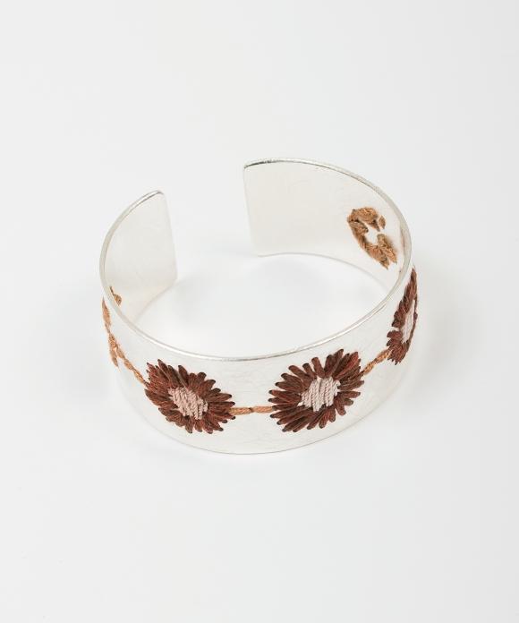 【CARO BARTLING】お花ブレスレット ダークブラウン