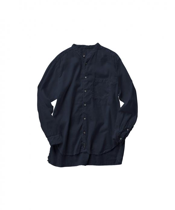 【UpcycleLino】BASIC バンドカラーシャツ